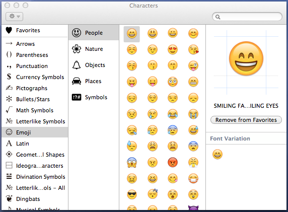 Mapa De Caracteres Mac.Paleta De Caracteres De Apple Mac So Mega Emoji
