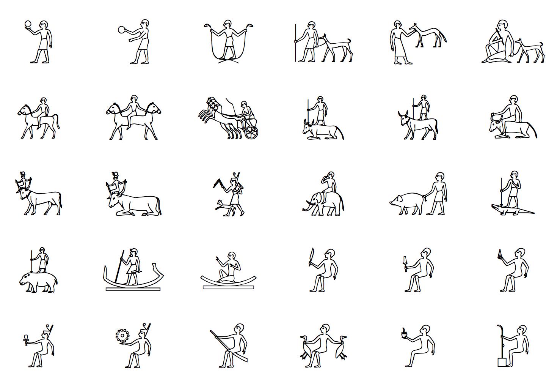 Type Egyptian Hieroglyph Symbol In Facebook Twitter